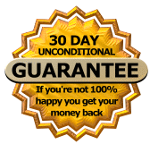 Malware removal 30 days, no questions asked, money back gurarantee seal picture